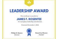 Leadership Award Certificate Template2