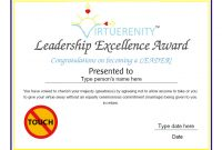 Leadership Award Certificate Template5