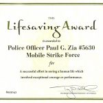 Life Saving Award Certificate Template