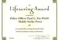 Life Saving Award Certificate Template Ribbon Awards Images Save