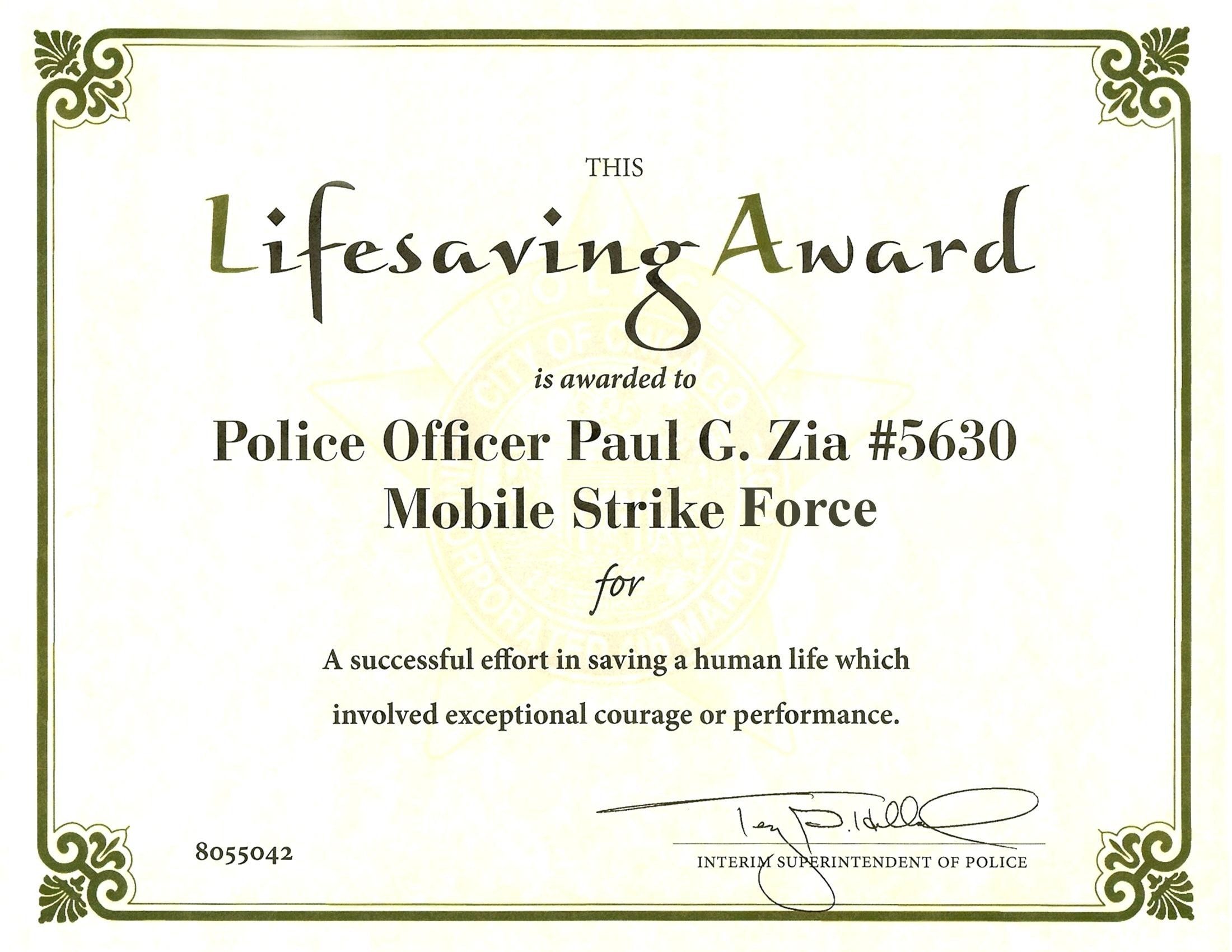 Life Saving Award Certificate Template Ribbon Awards Images Save