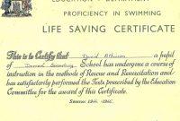 Life Saving Award Certificate Template 3