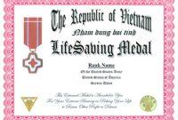 Life Saving Award Certificate Template 4