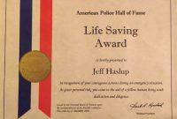 Life Saving Award Certificate Template 6