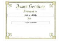 Life Saving Award Certificate Template 8