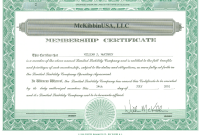 Llc Membership Certificate Template 0