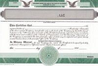 Llc Membership Certificate Template2