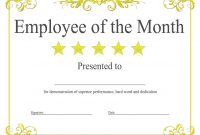 Manager Of the Month Certificate Template 1