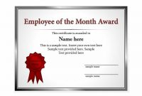 Manager Of the Month Certificate Template 2