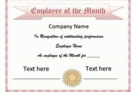 Manager Of the Month Certificate Template 5