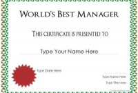 Manager Of the Month Certificate Template 6