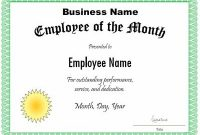 Manager Of the Month Certificate Template 8