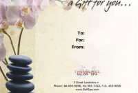 Massage Gift Certificate Template Free Download 11