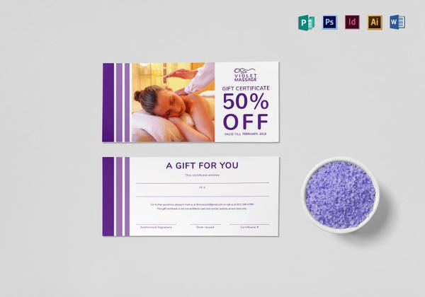 Massage Gift Certificate Template Free Download 12