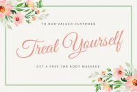 Massage Gift Certificate Template Free Download 3