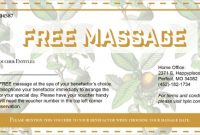 Massage Gift Certificate Template Free Download 4