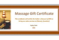 Massage Gift Certificate Template Free Download 7