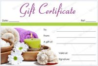 Massage Gift Certificate Template Free Download 8