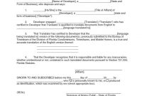 Mexican Marriage Certificate Translation Template 2