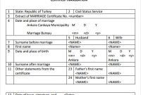 Mexican Marriage Certificate Translation Template 7