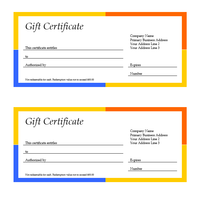 Microsoft Gift Certificate Template Free Word0