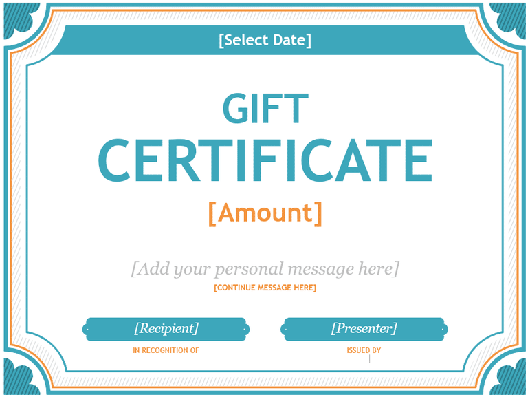 Microsoft Gift Certificate Template Free Word2