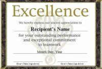 Microsoft Word Award Certificate Template 2