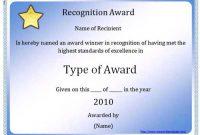 Microsoft Word Award Certificate Template 4