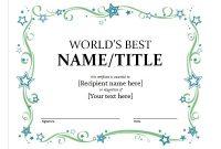 Microsoft Word Certificate Templates 3