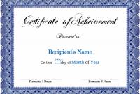 Microsoft Word Certificate Templates 4