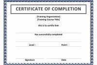 Blank Award Certificate Template Free