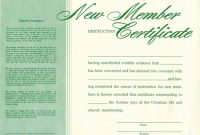 New Member Certificate Template 0