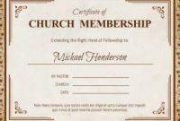 New Member Certificate Template 5