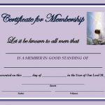 New Member Certificate Template