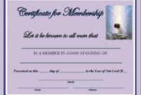 New Member Certificate Template 6