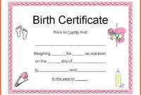 Novelty Birth Certificate Template 5