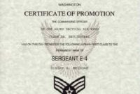 Officer Promotion Certificate Template11