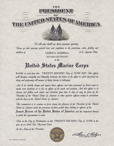 Officer Promotion Certificate Template4