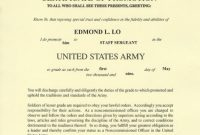 Officer Promotion Certificate Template6