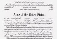 Officer Promotion Certificate Template7