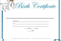 Official Birth Certificate Template 0
