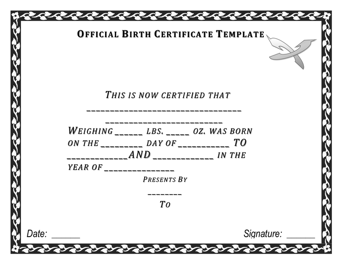 Official Birth Certificate Template 11