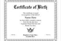 Official Birth Certificate Template 12