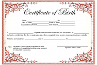 Official Birth Certificate Template 6