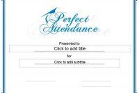 Perfect attendance Certificate Template 3