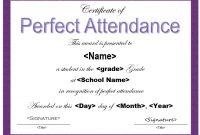 Perfect attendance Certificate Template 7
