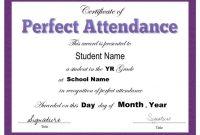 Perfect attendance Certificate Template 9