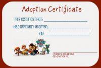 Pet Adoption Certificate Template 11