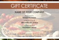 Pizza Gift Certificate Template 11
