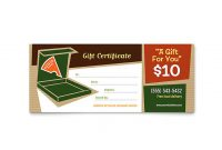 Pizza Gift Certificate Template 2